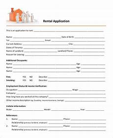 Free Lease Application Form 21 Printable Rental Application Templates Free