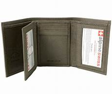 tri fold windows alpine swiss mens trifold wallet extra capacity multiple