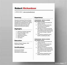 Word Template For Resume Resume Templates Examples Free Word Doc