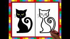 dibujos de gatos como dibujar un gato negro how to draw a black cat