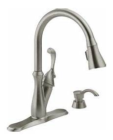Menards Kitchen Faucets Delta 174 Arabella One Handle Pull Kitchen Faucet At
