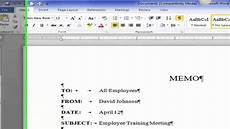 How To Make A Memo In Word Saylor Org Prdv003 Quot Word Processing Creating A Block