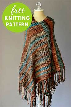 cable poncho free knitting pattern nobleknits