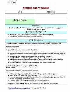 Resume For Welding Fresh Jobs And Free Resume Samples For Jobs Resume