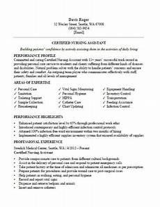 How To Do A Cna Resumes Certified Nursing Assistant Cna Resume Sample Clr