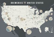 A Giant Redesigned Wall Map Featuring Over 1 400 Breweries