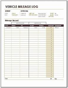 Vehicle Milage Log 50 Vehicle Mileage Log Templates For Ms Word Amp Excel