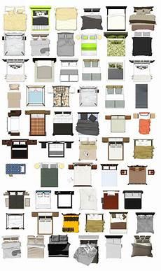 Designer Furniture Plans Photoshop Psd Bed Blocks 1 Interior Design Sketches