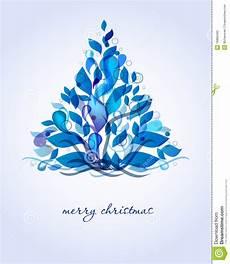 Blue Tree Design Abstract Blue Christmas Tree Stock Vector Illustration