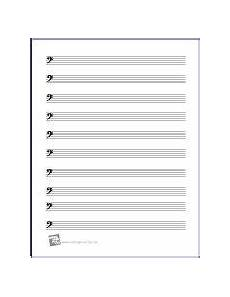 Blank Sheet Music Bass Clef Free Printable Manuscript Paper Bass Clef Viola Sheet