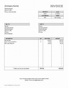 Billing Sheet Template Billing Invoice Template For Excel