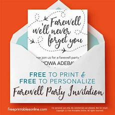 Farewell Invitation Samples We Ll Never Forget You Farewell Invitation Free