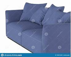Sofa Pads 3d Image by Blue Soft Sofa With Cushions 3d Rendering Stock