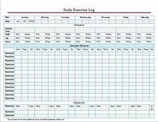 Exercise Log Excel Exercise And Meal Log Template For Word Amp Excel Formal