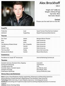 Actor Resume Example Acting Resume Template Ipasphoto