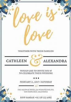Wedding Invite Free Templates 550 Free Wedding Invitation Templates You Can Customize
