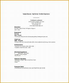 No Work Experience Resume Sample High School 8 Resume Sample For High School Students With No