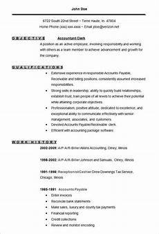 Resume Format Accountant 11 Sample Accounting Resume Templates Free Word
