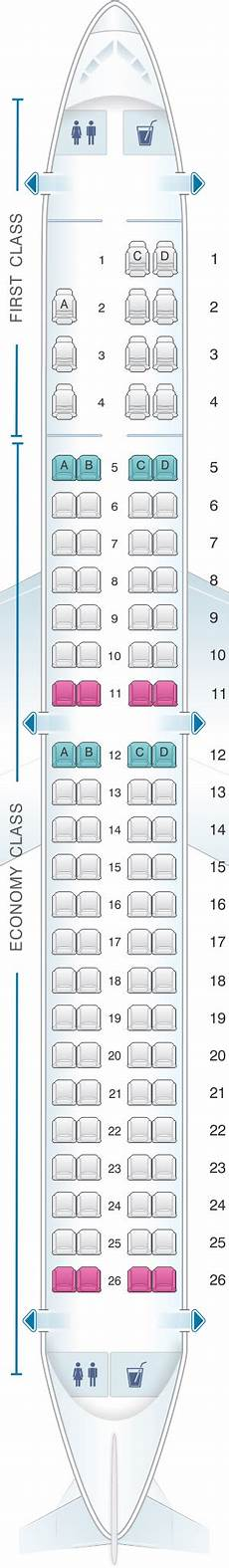 American Eagle Seating Chart Seat Map American Airlines Embraer Erj 190 Seatmaestro