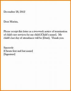 Daycare Notice Letter Two Weeks How To Write A Two Week Notice Business Proposal Sample