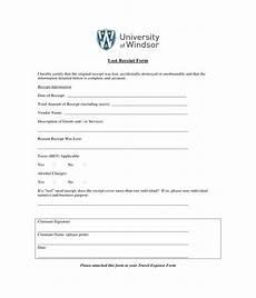 Generic Receipt Form Free 3 Generic Lost Receipt Forms In Pdf