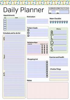 Daily Organiser Template Day Planner Printable Daily Planner Editable Daily