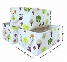decorative canvas storage bins for nursery playroom