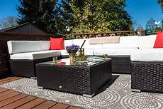 outsunny 7pc outdoor patio wicker rattan sectional sofa