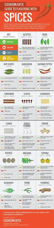 Spice Guide Chart 60 Professional Cooking Diagrams And Charts That Simplify