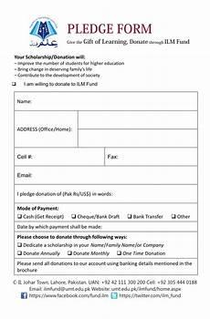 Donation Pledge Form Template Pledge Form