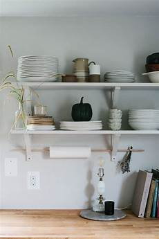 how to style open kitchen shelves for autumn a daily
