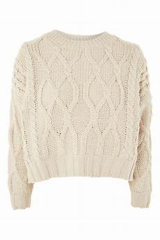 knit jumper cropped cable knit jumper topshop