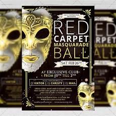 Masquerade Poster Template Masquerade Ball Seasonal A5 Flyer Template
