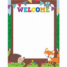 Welcome Chart For Classroom Woodland Friends Welcome Chart Ctp5280 Creative