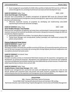 Asst Manager Resume Asset Management Resume Example