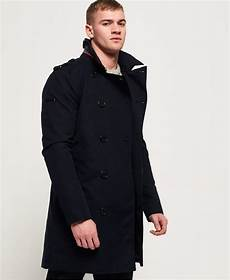 mens summer rogue trench coat in navy superdry