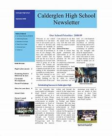 Newsletter Examples For Schools Sample School Newsletter 14 Documents In Pdf Word Psd