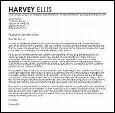 Solution Architect Cover Letter Solution Architect Cover Letter Sample Cover Letter