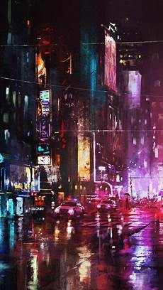 City Painting Iphone Wallpaper by Painting New York City In Iphone Wallpaper