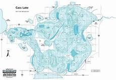 Cass Lake Depth Chart Contour Map Of Cross Lake Fishing At Cass Lake Lodge