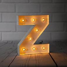 Metal Letters With Lights Wholesale White Marquee Light Letter Z Led Metal Sign 8 Inch