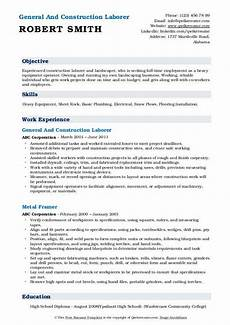 Resume Examples For Laborer Construction Laborer Resume Samples Qwikresume