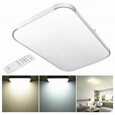 Ceiling Light With Remote Yescomusa 48w Modern Dimmable Led Ceiling Light Aluminum