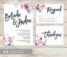 Watercolor Wedding Cards Watercolor Wedding Invite Multicolor Wedding Invitations