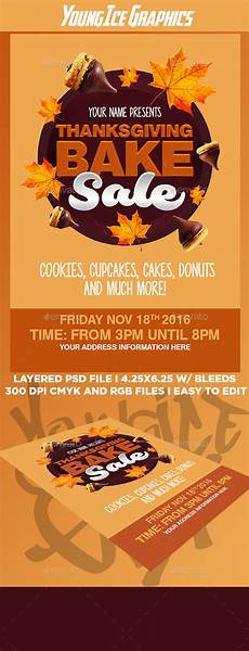 Thanksgiving Bake Sale Thanksgiving Bake Sale Flyer Template By Youngicegfx