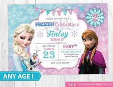 Frozen Birthday Invitations Printable Frozen Birthday Invitation Printable Frozen Invitation Etsy