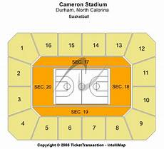 Cameron Indoor Stadium Seating Chart With Rows And Seat Numbers Duke Blue Devils Tickets College Basketball Acc Duod