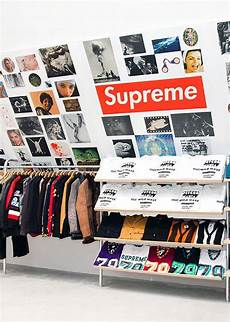 shop supreme clothing supreme store streetwear visual merchandising inspiration