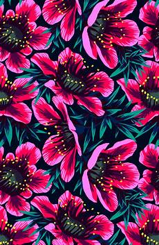neon floral iphone wallpaper flower patterns for my blue flamingo