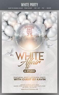 All White Party Invitations Templates White Party Flyer Template Psd White Party Party Flyer